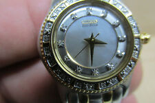 Ladie's Citizen Eco-Drive Mother of Pearl Wristwatch     Lots of Sparkle