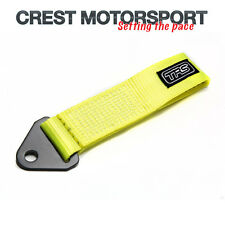 TRS Fixed Tow Eye Strap/Loop HI-VIS FLUORESCENT YELLOW (MSA Compliant) Rally Car
