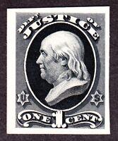 US O25TC4a 1c Department of Justice Black Atlanta Trial Color Proof XF SCV $43