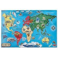 Melissa & Doug World Map Floor Puzzle 33 pc  #446 #0446 -New