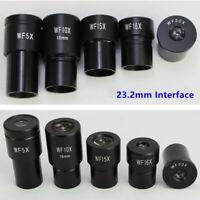 WF5X 10X 16X 20X 25X Biological Microscope Eyepiece Ocular Lens 23.2mm Interface
