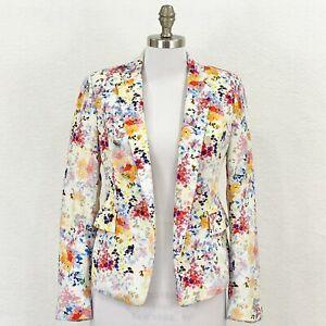 Zara Woman Floral Blazer Size Small Jacket Business Casual Top Job Interview