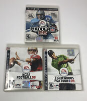 Playstation 3 Games Lot Of 4 Madden 25 Tiger Woods 09 NCAA Football 09 Madden 09