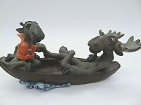 """VERY COLLECTIBLE FUNNY BEARFOOTS MOUNTAIN MOOSE """"ROW YOUR BOAT MOOSE"""" FIGURINE"""