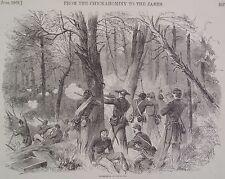 Skirmish In The Woods Virginia Chickahominy Swamp Civil War 1862