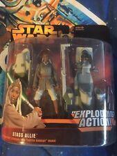 Star Wars Revenge of the Sith Stass Allie with BARC Speeder Battle Damage Hasbro