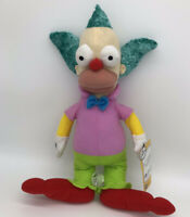"The Simpsons Krusty The Clown 15"" Plush New With Tags Toy Factor Stuffed Doll"