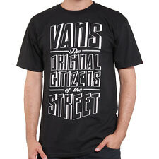NEW VANS THE ORIGINAL CITIZENS OF THE STREET BLACK T SHIRT TOP M MD OFF THE WALL