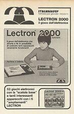 X9987 Lectron 2000 il gioco dell'elettronica - Pubblicità 1976 - Advertising