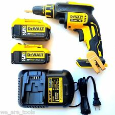 DeWalt DCF620 20V Max Cordless Drywall Drill, 2 DCB205 5.0 AH Batteries, Charger
