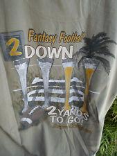 New Port Blue Shirt GREEN - (L) FANTASY FOOTBALL SOCALSHIRTS619