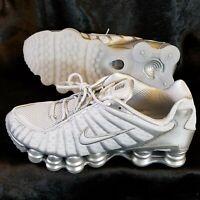 New Sz 8.5 Nike Shox TL White Pure Platinum Chrome Mens Running Shoes AV3595-003