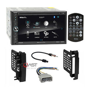 Boss DVD Phone Mirror Bluetooth Stereo Dash Kit Harness for Chrysler Dodge Jeep