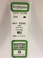 """.125"""" (3.2MM) OD Polystyrene Rod EVG244 by Evergreen Scale Models"""