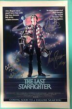THE LAST STARFIGHTER DIR NICK CASTLE +2 Actors ALEX & MAGGIE signed 11x17 3 AUTO