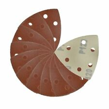 Hook / Loop Sanding Abrasive Discs Pads 90mm Sanding Triangle 10 PK 120 Grit