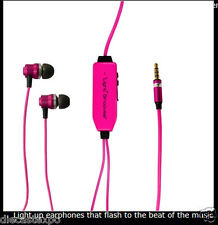 Light Grooves: Light-up Earphones to the beat of the music (Pink)