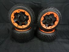 Rovan Orange Beadlock Wheels 24mm Rims and Dirt Buster Tires HPI Baja King Motor