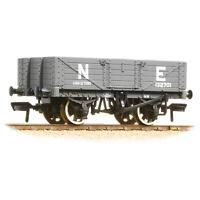 Bachmann 37-069 -  5 Plank Wagon Wooden Floor LNER Grey  00 Gauge  NEW