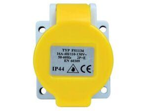 Transformer 16A 110v 3 Shuttered Pin Panel Socket IP44