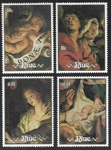 NIUE. Christmas, 1988. 4 stamps and min. sheet. Painting by Rubens. MNH.