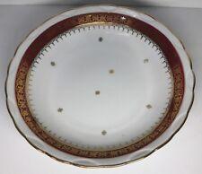 Lot2 De 6 Assiettes Creuses En Porcelaine Pourpre & Dentelles Deux Feux D 20,5