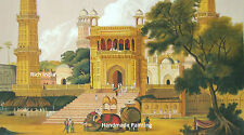 Mosque Muslim Art Islamic Paintings landscape Painting Artwork British India