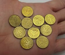 PERU 5 CENT OF SOL DE ORO YEAR 1965 LIMA ANNIVERSARY LOT OF 10 COINS CIRCULATED