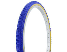 """2-Tires Duro 26"""" x 1.75"""" Blue/Gum Side Wall HF-143G Lowrider Cruiser Bicycle"""