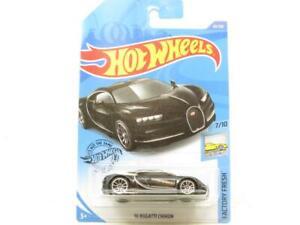 Hot Wheels 16 Bugatti Chiron Black 89/250 Long Card 1 64 Scale Sealed New