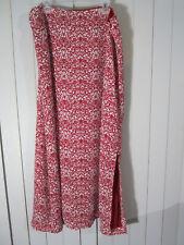 Red White Design Large Long Skirt