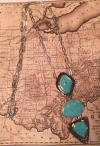 "Silpada N3442 NEW Brass Howlite ""Sante Fe"" Sterling Silvr Long Necklace $249 New"