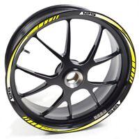 UKEN Sticker wheel Rim Hyosung RX 125 RX125 Yellow strip tape vinyl adhesive