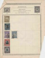 America Stamps on Album Page ref  R 18892