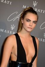 A Cara Delevingne Black Cleavage Suit 8x10 Picture Celebrity Print