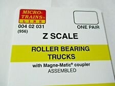 Micro-Trains Stock # 00402031 #956 Roller Bearing Trucks w/ Magnetic Couplers (Z