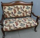 Vintage Gorgeous Mahogany Frame Settee with Butterfly Motif(Pick Up 10/28or 29th
