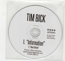 (HV200) Tim Bick, Information / Heart Attack - 2015 DJ CD