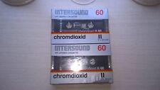 INTERSOUND  60 metall  AUDIOKASSETTEN  AUDIO TAPE  NEU