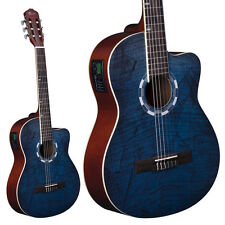 Lindo Picasso Blue Electro-Acoustic 960CEQ Classical Guitar Spruce Top + Case