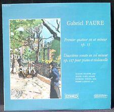 Fauré Quat op 15 Ste 2 op 117 Helffer Albin Tessier Ladhuie LP & CV NM -