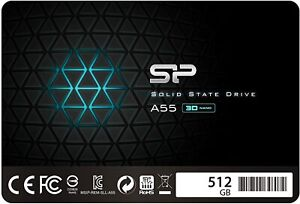Silicon Power SSD 512GB 3D NAND A55 SLC Cache Performance Boost 2,5 Zoll