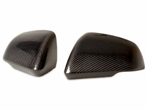 Real Carbon Fiber Side Mirror Cover For Ford Mustang Add On Caps 15-16