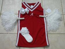 ALABAMA Cheerleader OUTFIT COSTUME POM POMS & CHEER BOW 12 SET ROLL TIDE UNIFORM
