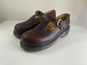 Vintage Doc Martens Dr. - 8334 Chunky Mary Janes Cherry Red UK 7/ US 9