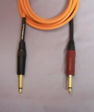 "UpScale Canare GS-6 Silent 1/4"" TS Guitar Bass Instrument Cable-Orange 10FT"