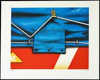 Untitled, um 1982. Multiple (Offset-Grafik) Peter KLASEN (*1935 D), handsigniert