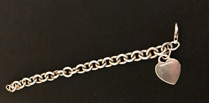 Tiffany & Co. Charm Bracelet Sterling 925 Return to Heart Tag