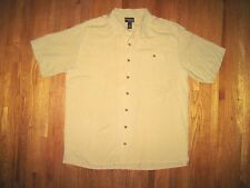 Big & Tall Gander Mt Guide Series Tan Short Sleeve Casual Shirt Size 2XLT NWT