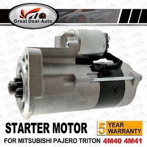 Starter Motor fit Mitsubishi Pajero NM NP NS eng 4M41 Turbo Diesel 3.2L 02-08